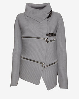 Barbara Bui Buckled Zipper Detail Sweater