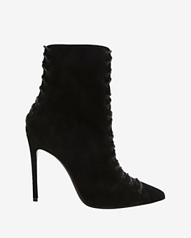 Barbara Bui Lace Up Detail Suede Bootie