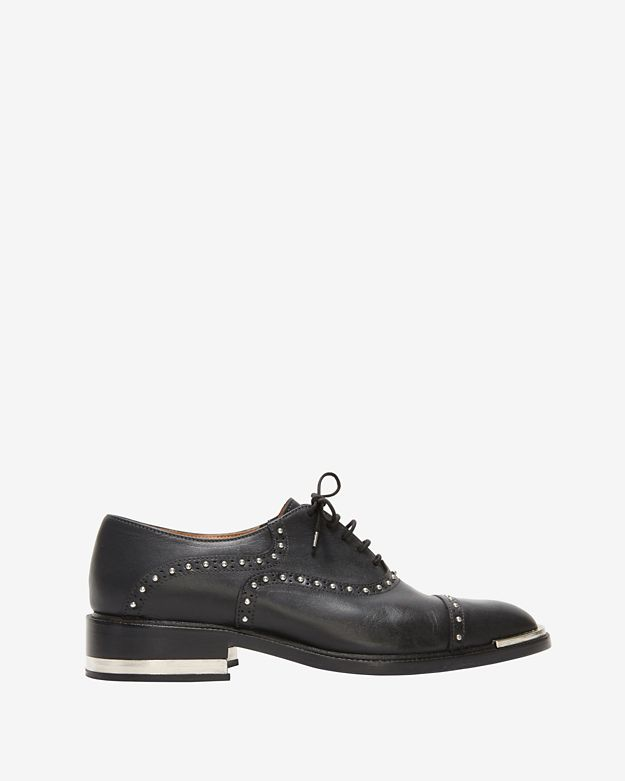 Barbara Bui Studded Oxfords: Black