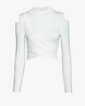Jonathan Simkhai Cut Out Crop Sweater Knit