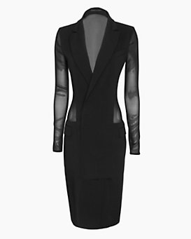 Barbara Bui Sheer Back Suit Dress