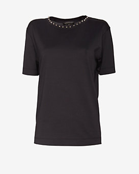 Barbara Bui Studded Collar Tee