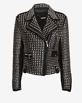Barbara Bui All Over Studded Moto Jacket