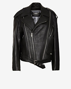 Barbara Bui Zip Around Oversized Moto Jacket