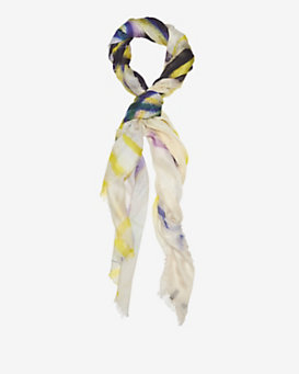 Maison Passage Happy Face Graffiti Scarf