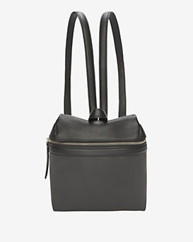 KARA Classic Pebbled Leather Backpack: Black