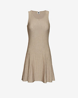 M Missoni Lurex Sleeveless Flare Dress