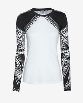 Herve Leger Graphic Long Sleeve Tee