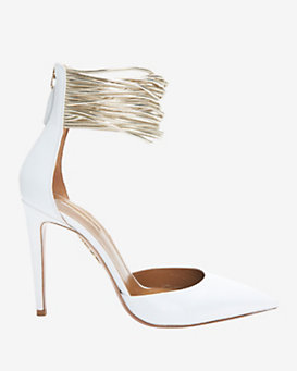Aquazzura Hello Lover D'Orsay Ankle Strap Pump