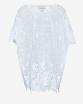 Miguelina Cotton Crochet Caftan
