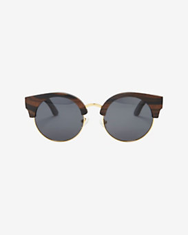 Finlay & Co. Thurloe Wooden Frame Gold Rim Sunglasses