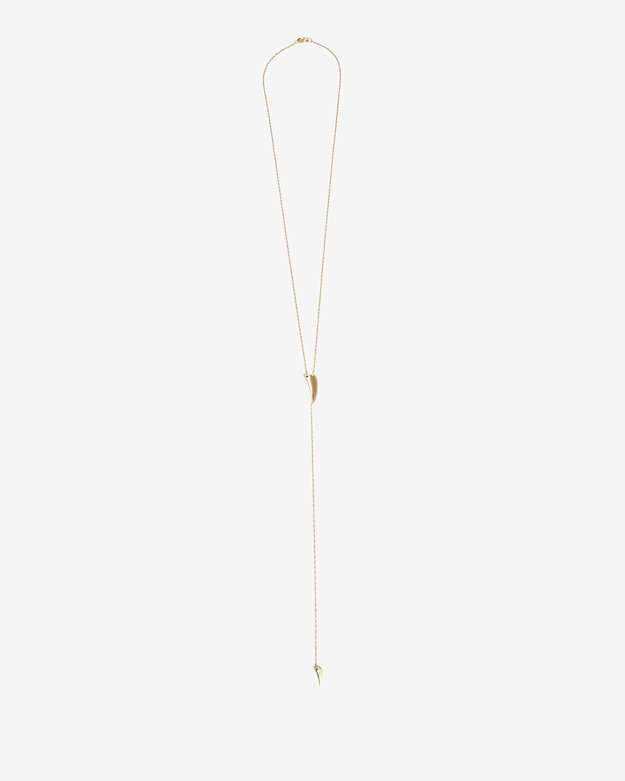 Jennifer Zeuner Hunter Double Tusk Lariat Necklace