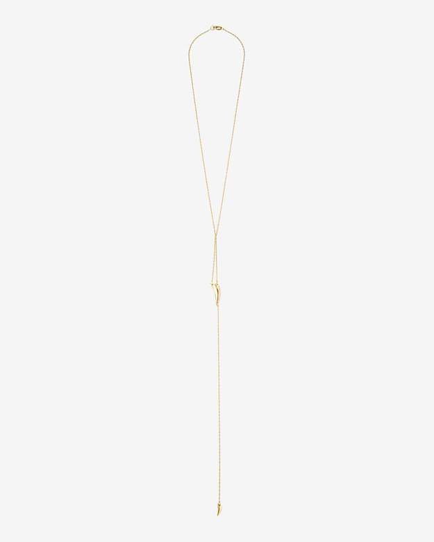 Jennifer Zeuner Hunter Tusk Lariat Necklace