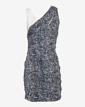 IRO Printed Ruched Dress