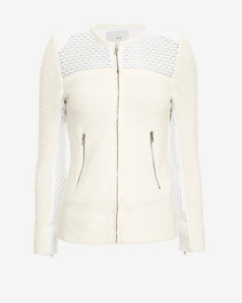 IRO Hurley Fitted Knit Jacket: White