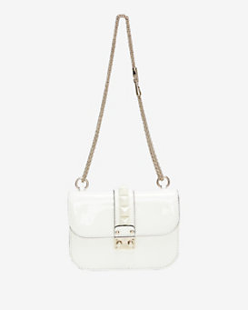 Valentino Punkcouture Flap Lock Chain Shoulder Bag: Ivory