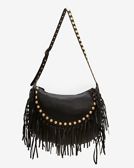 Valentino Medallion Fringe Leather Hobo
