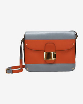 Valentino Colorblock Flap Square Bag