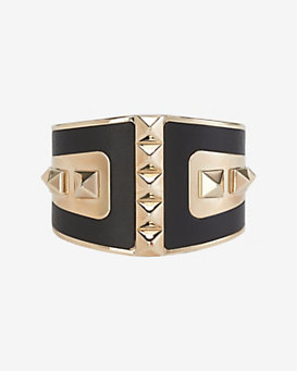 Valentino Molded Leather Rockstud Metal Cuff