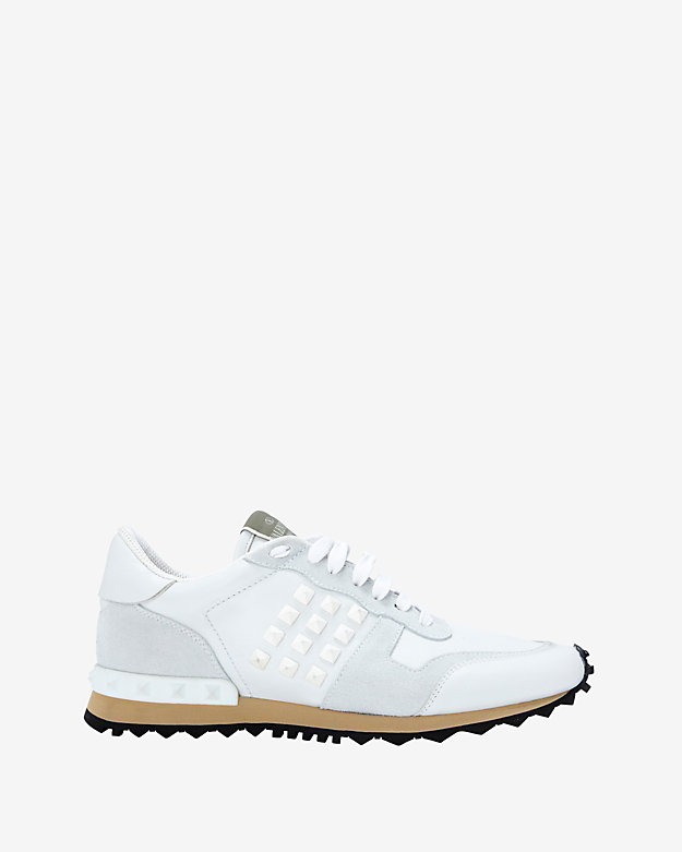 Valentino Rockstud Sneakers: White