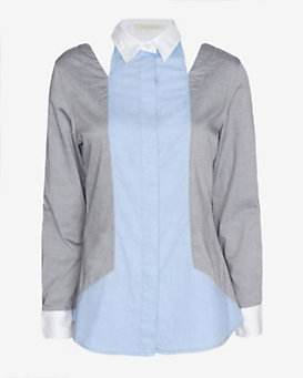Jonathan Simkhai Cut Out Tailored Shirt
