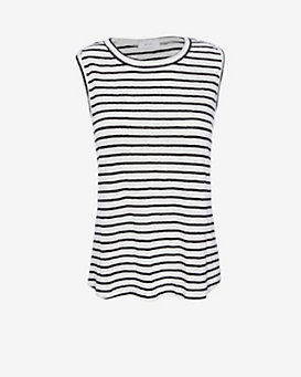 A.L.C. EXCLUSIVE Rutherford Slit Back Stripe Tank