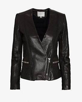 IRO Leather Blazer: Black