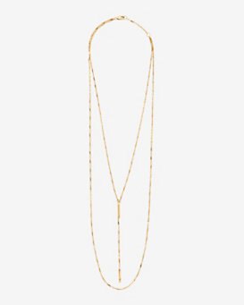 Jennifer Zeuner EXCLUSIVE Double Chain Bar Lariat Necklace