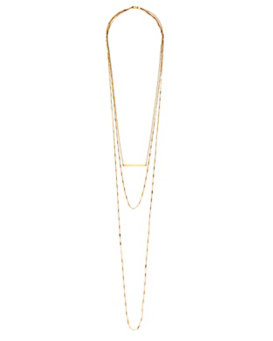 Jennifer Zeuner Triple Layered Chain Necklace