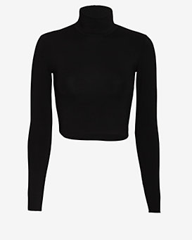 Nadia Tarr EXCLUSIVE Crop Turtleneck