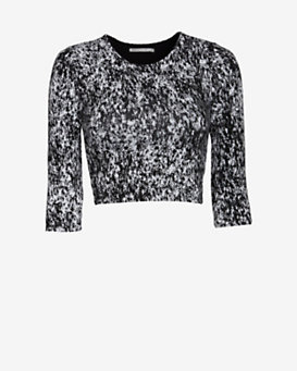 Nadia Tarr EXCLUSIVE Splatter Crop Top