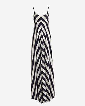 Nadia Tarr EXCLUSIVE Chevron Maxi Dress