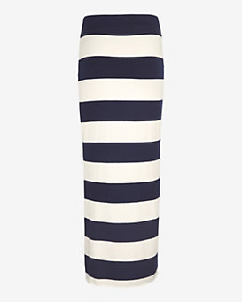 Nadia Tarr EXCLUSIVE Striped Midi Skirt