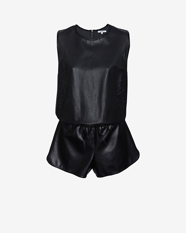 Bailey 44 EXCLUSIVE Perforated Leather-Like Romper