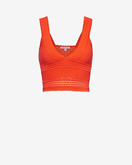 Ronny Kobo EXCLUSIVE Ameline York Knit Crop Top