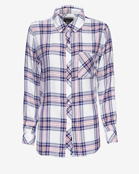Rails EXCLUSIVE Plaid Shirt: Pink/Navy