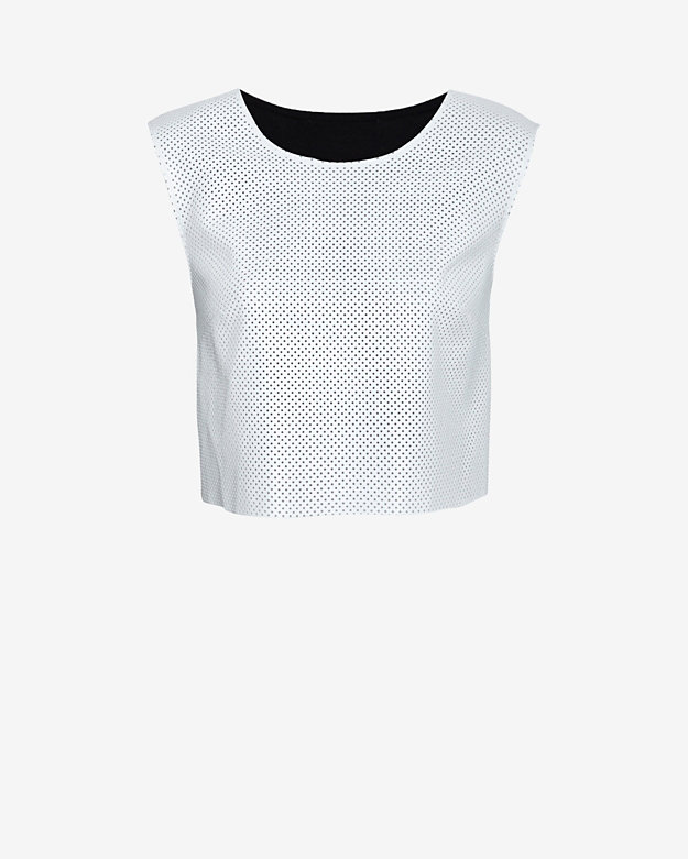 Bailey 44 EXCLUSIVE Perforated Leather-Like Front Crop Top