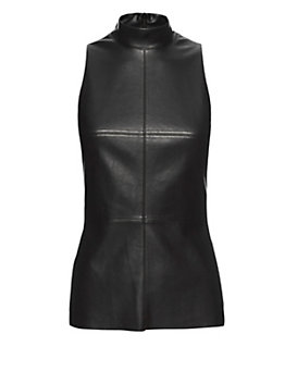 Bailey 44 EXCLUSIVE Faux Leather Turtleneck