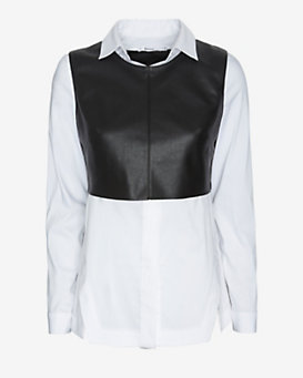 Bailey 44 EXCLUSIVE Leather-Like Shirting Overlayer