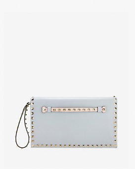 Valentino Rockstud Colorblock Flap Clutch