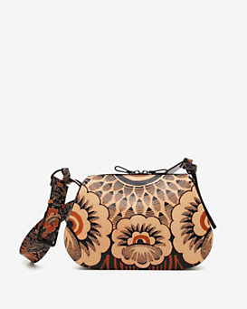 Valentino Floral Print Double Zipper Shoulderbag