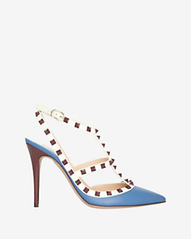 Valentino Rockstud Mixed Tone Pump: Blue