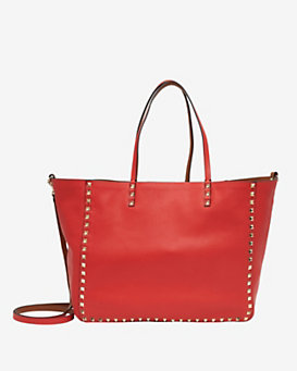 Valentino Rockstud Double Leather Reversible Tote