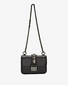 Valentino Va Va Voom Mini Rockstud Shoulder Bag: Noir