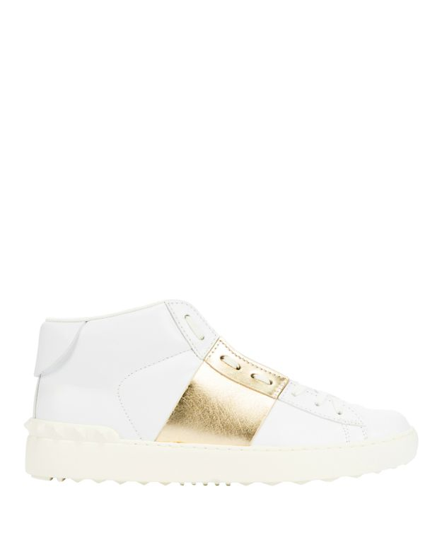 preorder 		 	 	 	 	 	 	 	 	valentino-gold-stripe-leather-sneaker by valentino