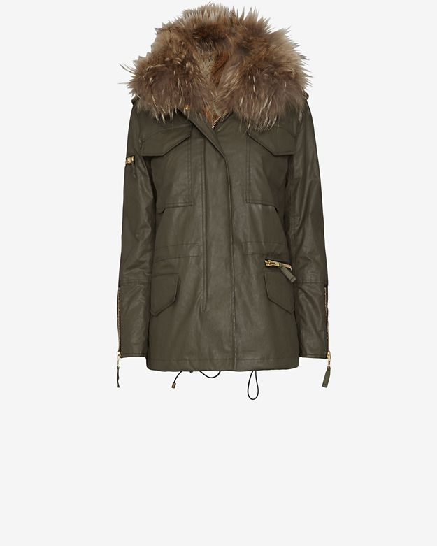 sam-kate-rabbit-fur-lined-jacket:-army by sam