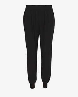 Joie Mariner Crepe Jogging Pants: Black