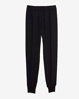 Joie Crepe Jogging Pants: Black