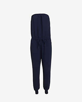 Joie Strapless Jumpsuit: Navy