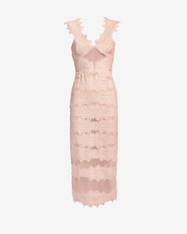 Jonathan Simkhai Sleeveless Brocade Midi Dress